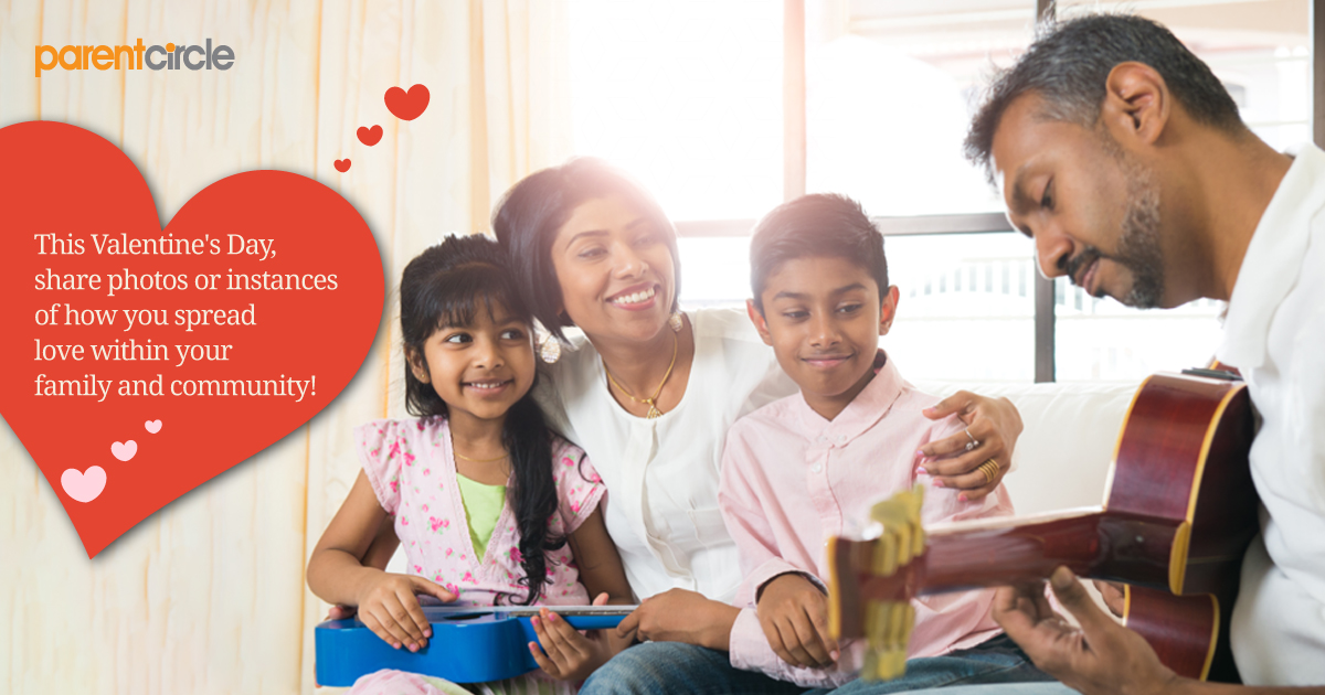 Share photos or instances of how you spread love within your family and community everyday!