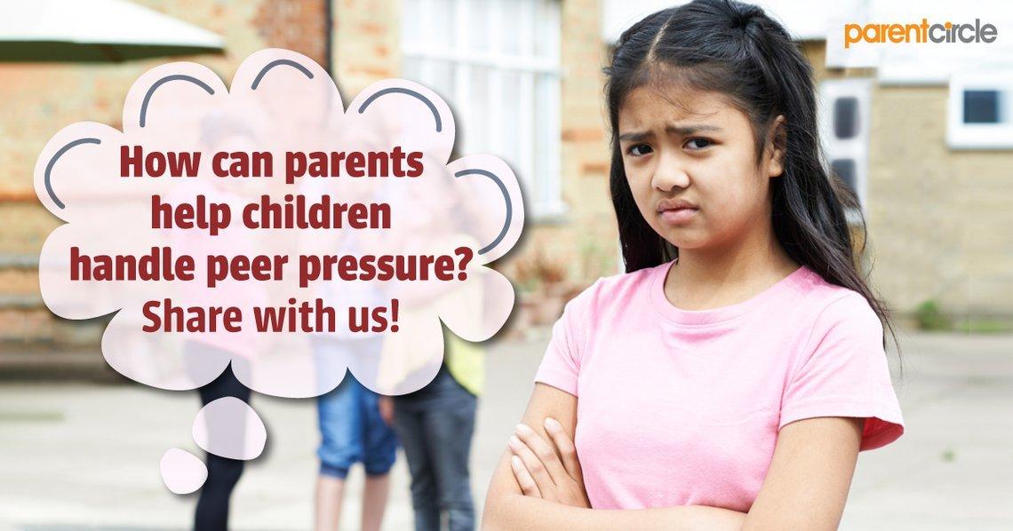 How can parents help children handle peer pressure?