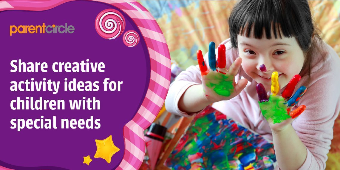 Share creative activity ideas for children with special needs!