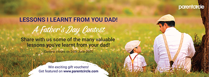 CONTEST ALERT 14 - Lessons I learnt from you Dad! - A Father's Day Contest
