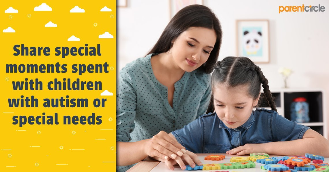 Share special moments spent with children with autism or special needs!