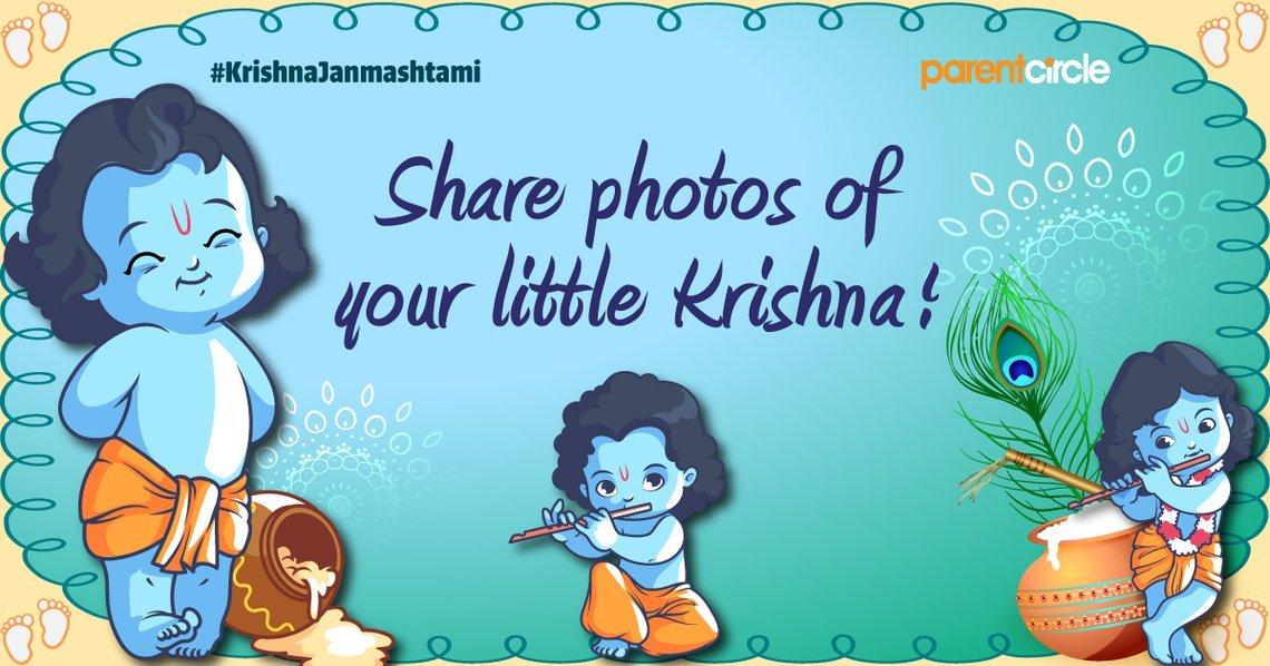 #KrishnaJanmashtami: Share photos of your little Krishna!