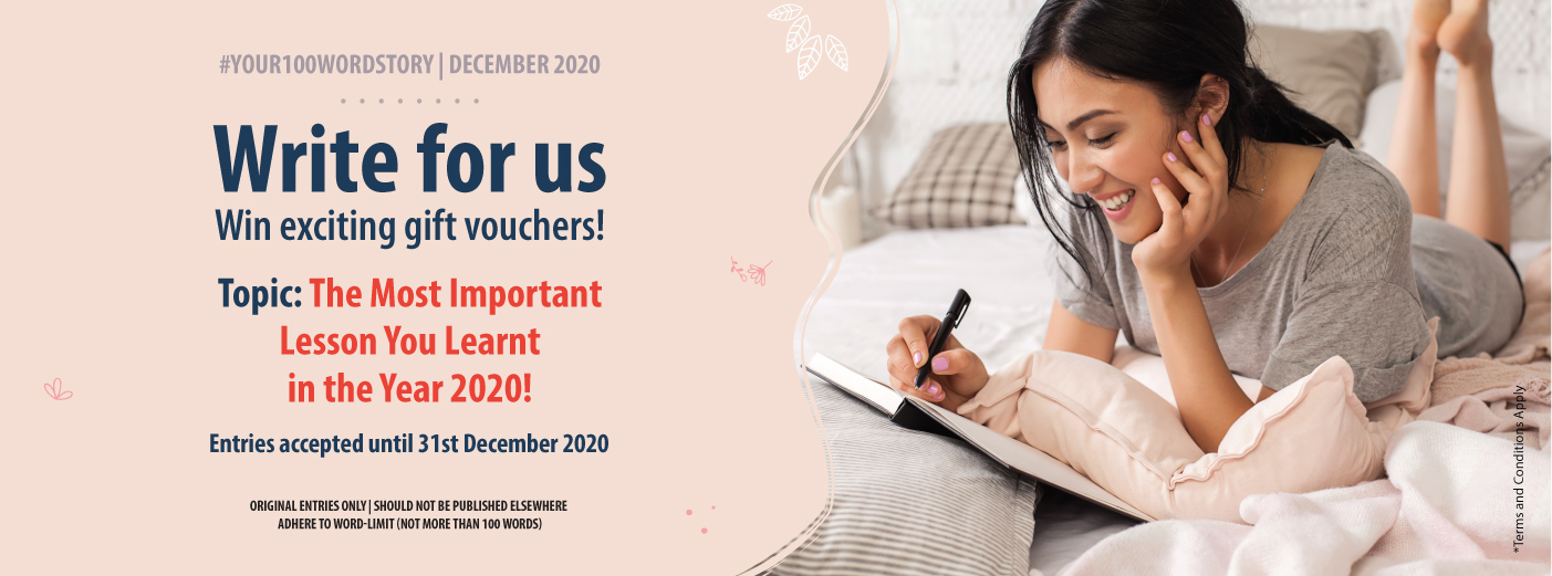 #YOUR100WORDSTORY: December 2020 | The Most Important Lesson YOU Learnt in 2020!