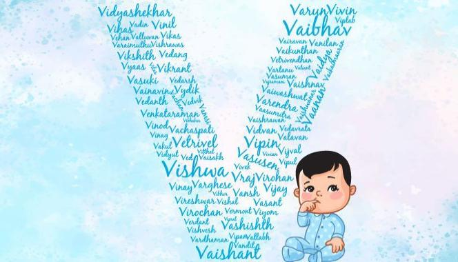 Baby boy names starting with the letter V