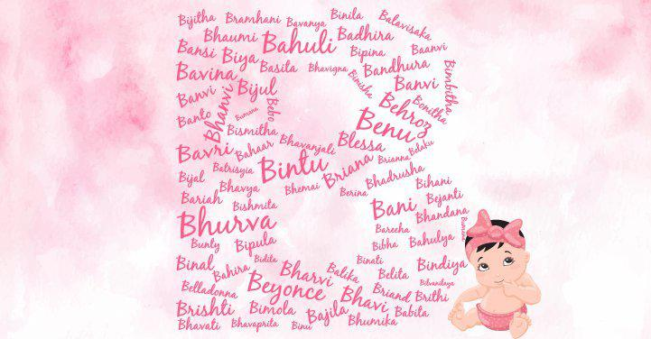 Baby girl names starting with the letter B
