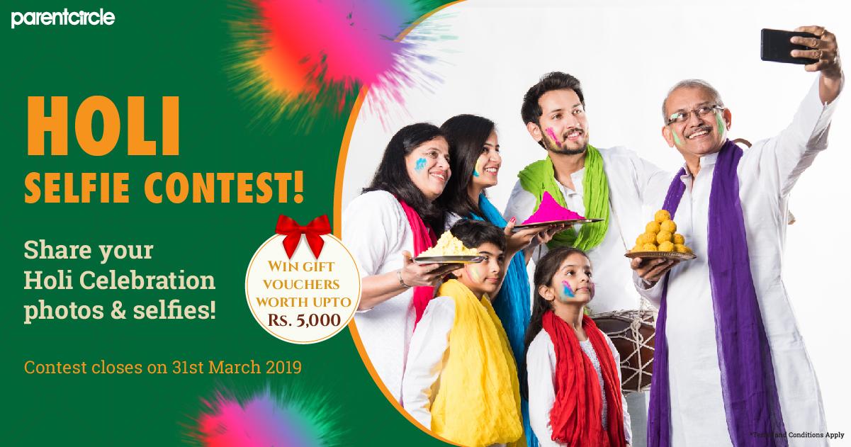 CONTEST ALERT 5 - Holi Selfie Contest!!