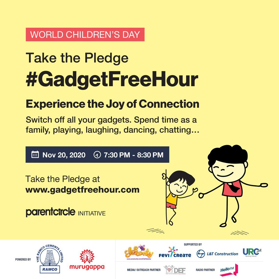 #GadgetFreeHour 2020 | Experience the Joy & Magic of Connection!