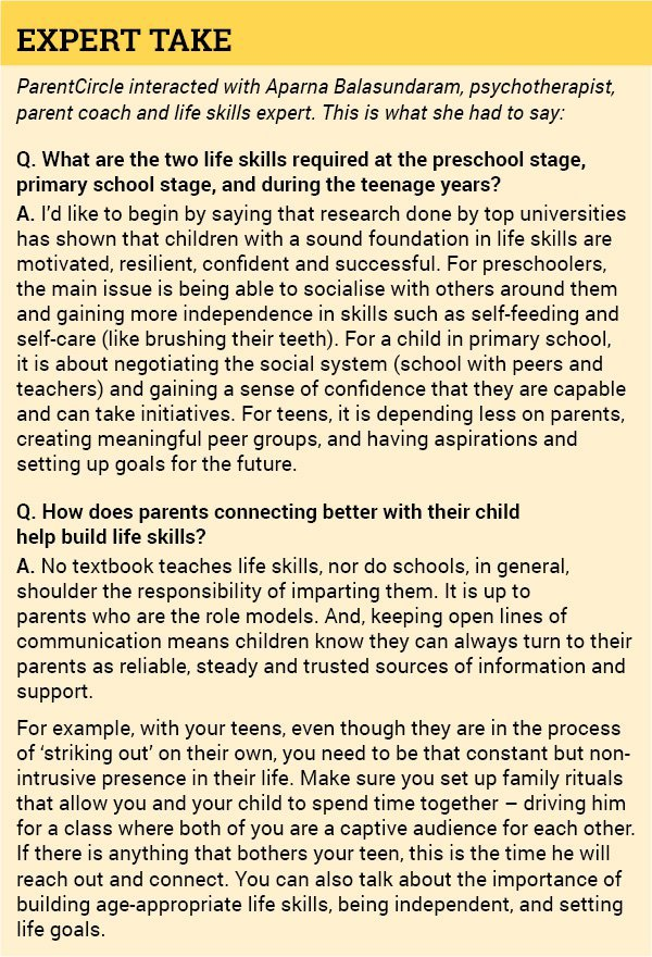 Building life skills: How parents can help