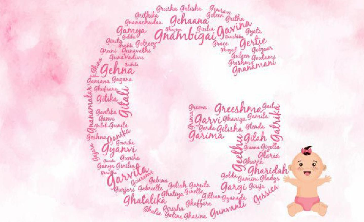 Here are a mix of traditional and modern baby girl names starting with G